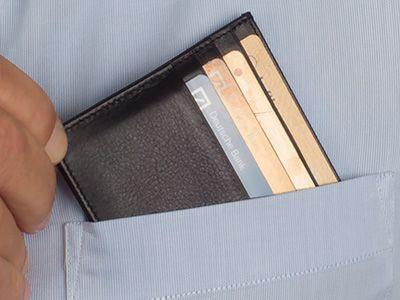 Kartenetui für die Hemdentasche