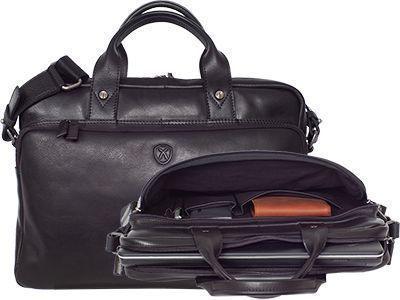 Businesstasche 15 Zoll Leder schwarz - Mac