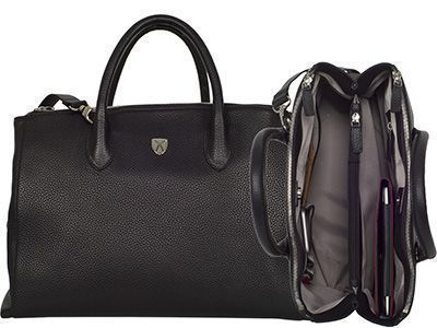 Damen Businesstasche Handtasche 15 Zoll Leder Tosca