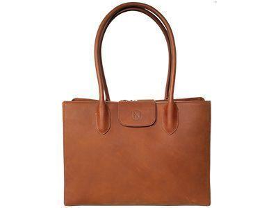 Damen-Businesstasche aus Anilinleder
