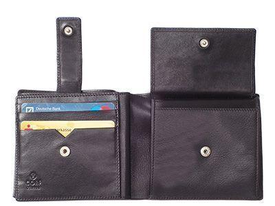Druckknöpfe dienen zum Öffnen und Schließen des Münzfachs und des Riegels über den Kartenfächern.