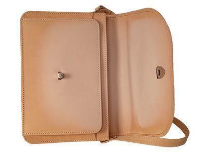 Innenansicht einer naturfarbenen Tasche mit Verfärbung