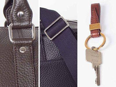 Ringe erlauben, Griffe und Tragegurte an Reisetaschen, Damentaschen, Rucksäcken und Businesstaschen so anzubringen, dass sie leicht abgeklappt und bewegt werden können.