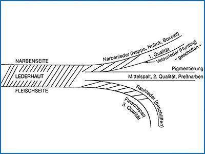Spaltleder entsteht, wenn eine Haut oder auch gegerbtes Leder mit einem horizontal laufenden Bandmesser in zwei Teile geschnitten wird. Der untere Teil wird als Spalt oder nach dem Gerben als Spaltleder bezeichnet.