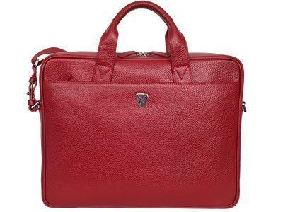 Laptoptasche aus rotem Leder