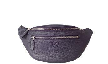 Handtasche Gürteltasche Leder blau
