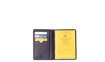 Vaccine certificate and passport holder made of topgrade leather